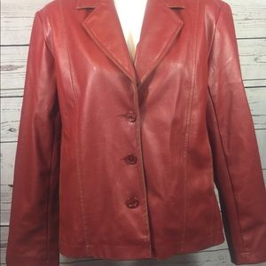 MOUNTAIN LAKE -LINED, FAUX LEATHER JACKET